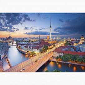 Fototapeta - FT6125 - Panoráma mesta Berlín v noci
