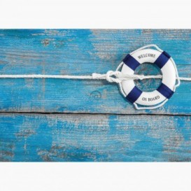 Fototapeta - FT6134 - Modré záchranné koleso