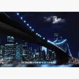 Fototapeta - FT6135 - Nočný Brooklyn bridge