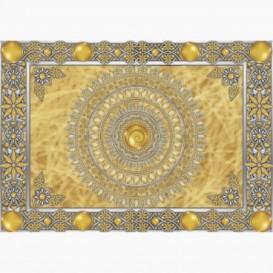 Fototapeta - FT6149 - Zlatá mandala - žluté pozadí