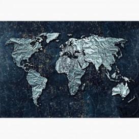 Fototapeta - FT6153 - Mapa světa z plechu