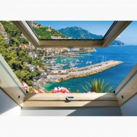 Fototapeta - FT6157 - Výhľad z okna na pobrežie