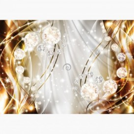 Fototapeta - FT6170 - Grafika s diamanty - oranžová