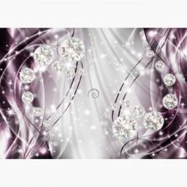Fototapeta - FT6171 - Grafika s diamantmi - fialová