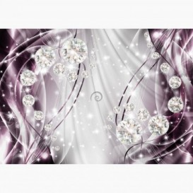 Fototapeta - FT6171 - Grafika s diamanty - fialová