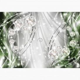 Fototapeta - FT6172 - Grafika s diamanty - zelená