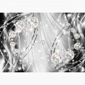 Fototapeta - FT6173 - Grafika s diamanty - šedá