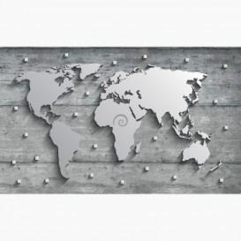 Fototapeta - FT6186 - Kovová mapa světa