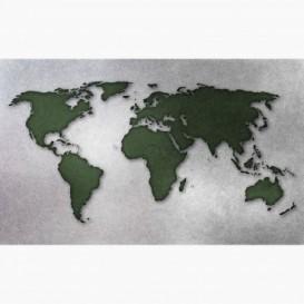 Fototapeta - FT6188 - Zeleno-bílá mapa světa