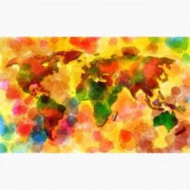 Fototapeta - FT6189 - Barevná mapa světa