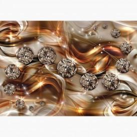 Fototapeta - FT6235 - Grafika s diamanty - oranžová