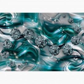 Fototapeta - FT6237 - Grafika s diamanty - zelená