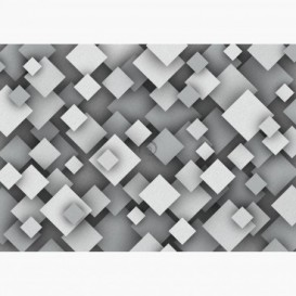 Fototapeta - FT6305 - Šedá čtvercová iluze