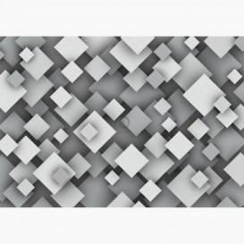 Fototapeta - FT6305 - Sivá štvorcová ilúzia