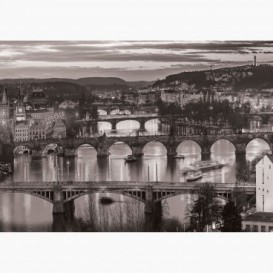 Fototapeta - FT6340 - Čierno-biele mosty na Vltave