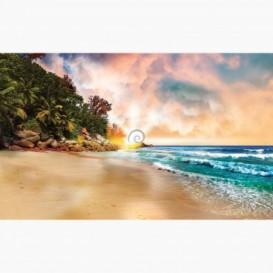 Fototapeta - FT6431 - Tropická pláž pri západe slnka