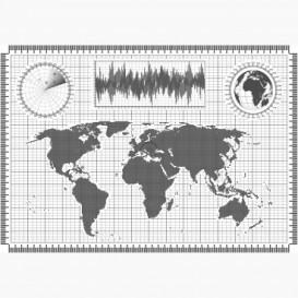 Fototapeta - FT6454 - Pixelová mapa