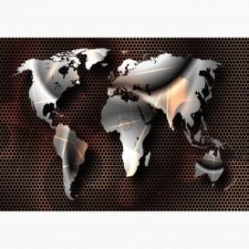 Fototapeta - FT6462 - Zrcadlová mapa světa