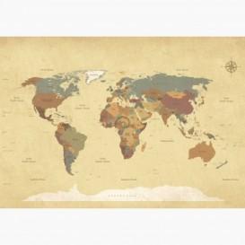 Fototapeta - FT6467 - Politická mapa světa