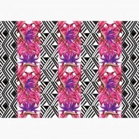 Fototapeta - FT6498 - Pruhy - ružové listy