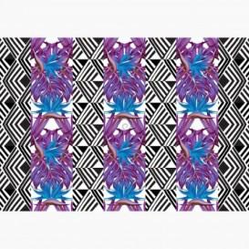 Fototapeta - FT6499 - Pruhy - fialovo-modré listy