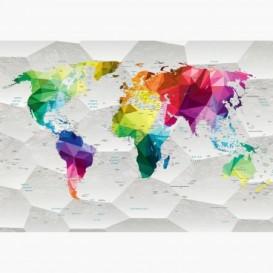 Fototapeta - FT6551 - Barevná mapa světa