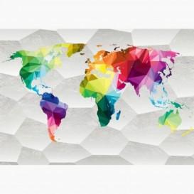 Fototapeta - FT6552 - Farebná mapa sveta