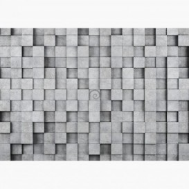 Fototapeta - FT6688 - Sivé 3D hranoly