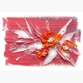 Fototapeta - FT6722 - Červeno oranžové maľované kvety