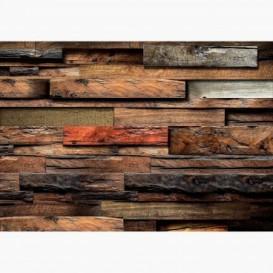 Fototapeta - FT6837 - Stena z masívneho dreva