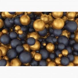 Fototapeta - FT6905 - Zlaté a čierne 3D gule