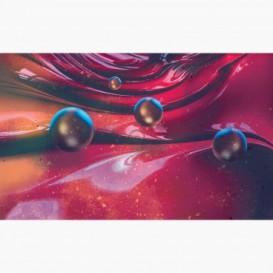 Fototapeta - FT6988 - Červené 3D vlny