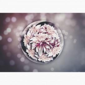 Fototapeta - FT7005 - Sklenená guľa s kvetmi