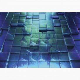 Fototapeta - FT7008 - Modré 3D čtverce grafika