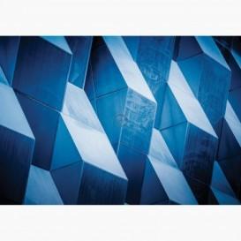 Fototapeta - FT7078 - Detail na modernej budove modrý