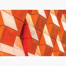 Fototapeta - FT7079 - Detail na modernej budove oranžový