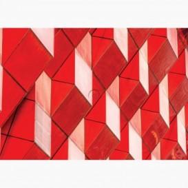 Fototapeta - FT7080 - Detail na modernej budove červený