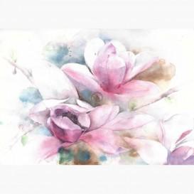 Fototapeta - FT7156 - Bielo-ružové kvety maľba