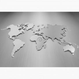 Fototapeta - FT7160 - Kovová mapa sveta