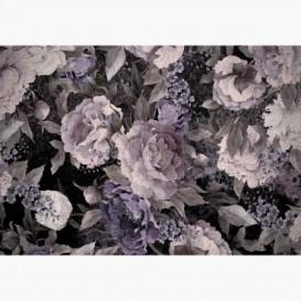 Fototapeta - FT7389 - Fialové maľované kvety
