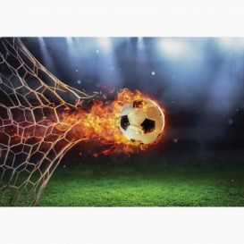 Fototapeta - FT7654 - Horiaca futbalová lopta