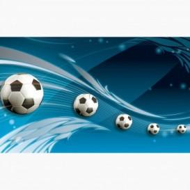 Fototapeta - FT7673 - Futbalové lopty modrá