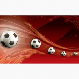 Fototapeta - FT7674 - Futbalové lopty červená