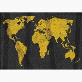 Fototapeta - FT7715 - Mapa sveta na asfalte