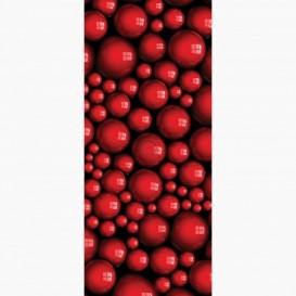 Fototapeta - DV1067 - Červené 3D guličky